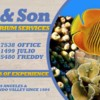 Logo J.R. & Son. Fresh/Salt Water Aquarium / Pond Service