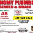SEWER AND DRAIN SERVICES - FREE ESTIMATES!