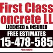 Photo #24: FIRST CLASS CONCRETE LLC