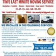 Tim's Reliable Last Minute Movers