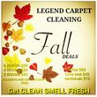 Legend carpet cleaning _5 Rooms+hall $99