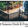 ALL SEASONS DECK AND FENCE. CHAIN LINK fence