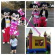Bounce house and costume character