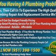 Photo #1: PLUMBER -HERE TO HELP YOU -AFFORDABLE PLUMBING REPAIRS - PLUMBERS HERE