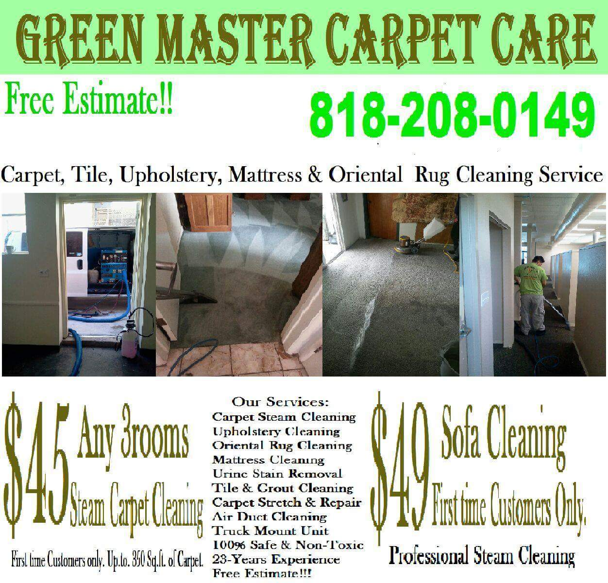 Green Master Carpet Care - (818) 208